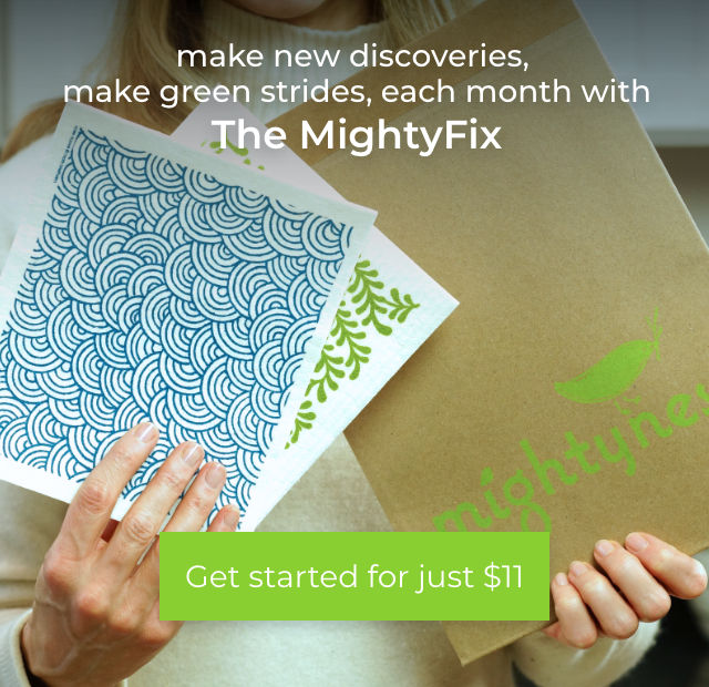 Make new discoveries make green strides each month with the MightyFix Swedish Dishcloths